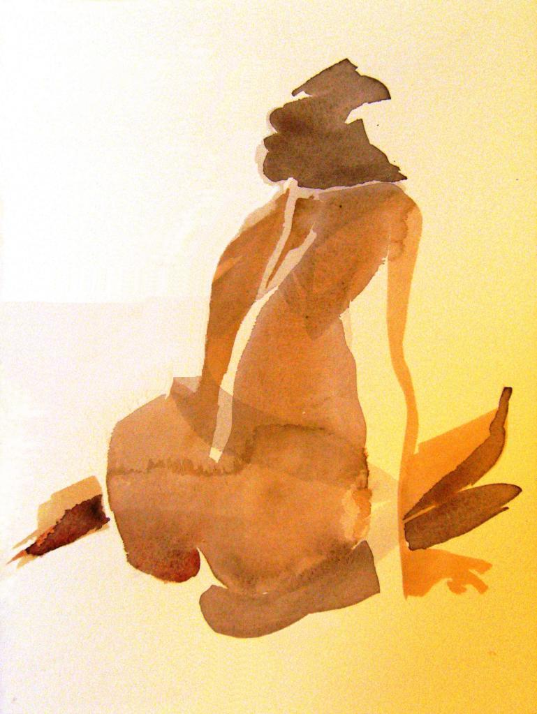 kroki, akvarell 2013 06 15-16 139 färgjusterad o beskuren retusch, målare(painter): Marica Ohlsson