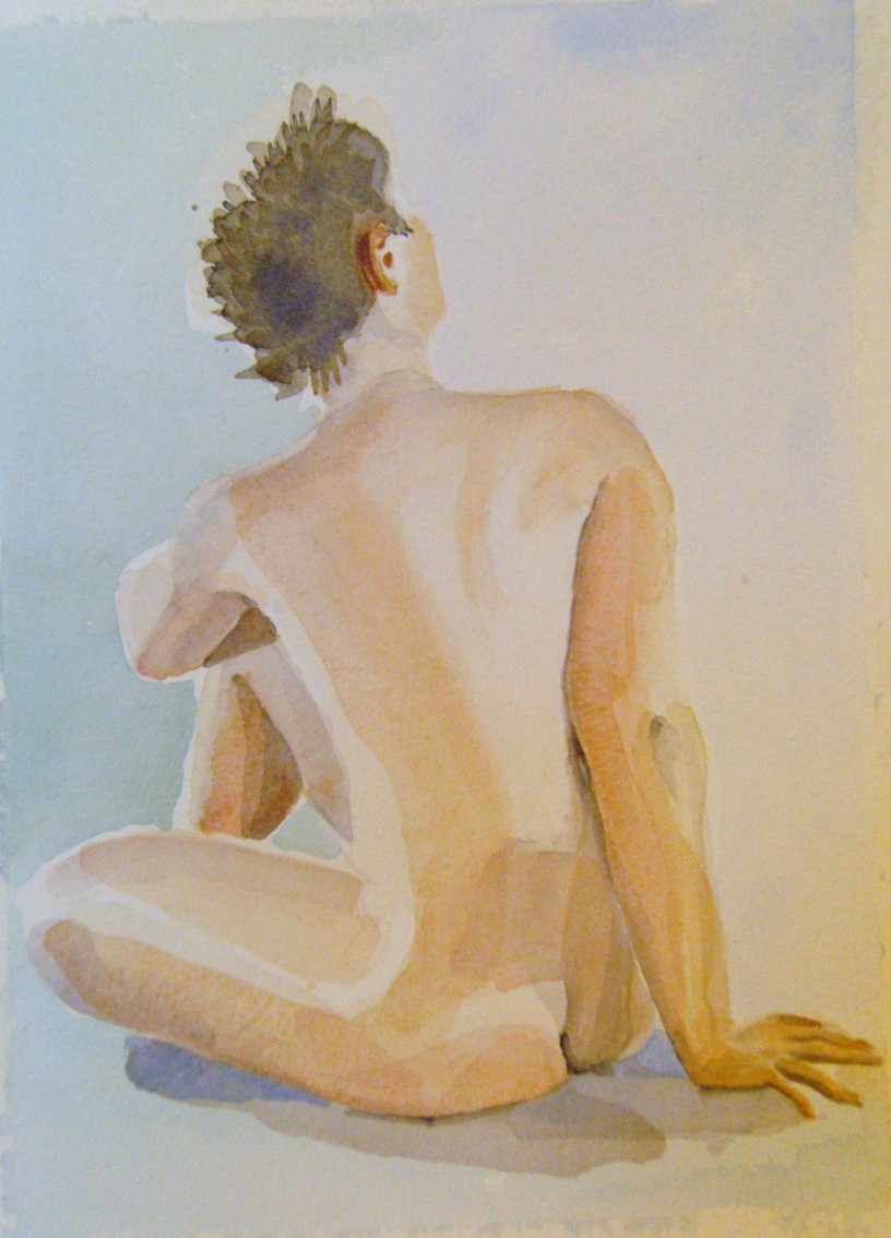 modell akvarell 2013 04 20-21 1 foto 143, målare(painter): Marica Ohlsson