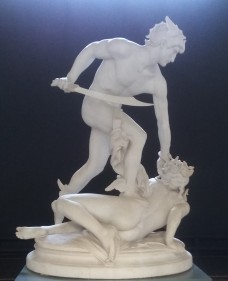 Perseus dräper Medusa av Laurent-Honoré Marqueste (1848-1929)